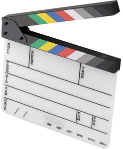 Elvid 9-Section Acrylic Production Slate with Color Clapper Sticks