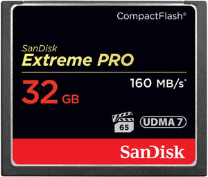 SanDisk Extreme PRO 32GB CompactFlash Memory Card UDMA 7 Speed Up To 160MB/s- SDCFXPS-032G-X46 Capacity:32Gb