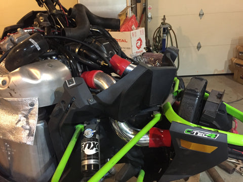 "2017-2020 Arctic Cat Thundercat/Yamaha Sidewinder 998 Turbo High Flow 2.5"" charge tubes"