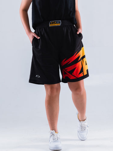 AZA Manga Strike Short - Black/Yellow