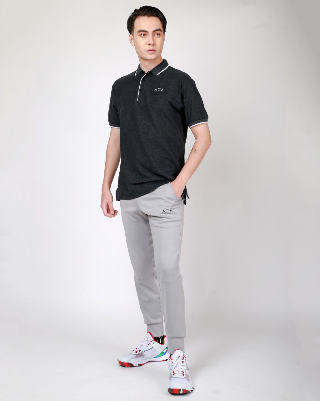 Polo AZA Basic - Dark Grey