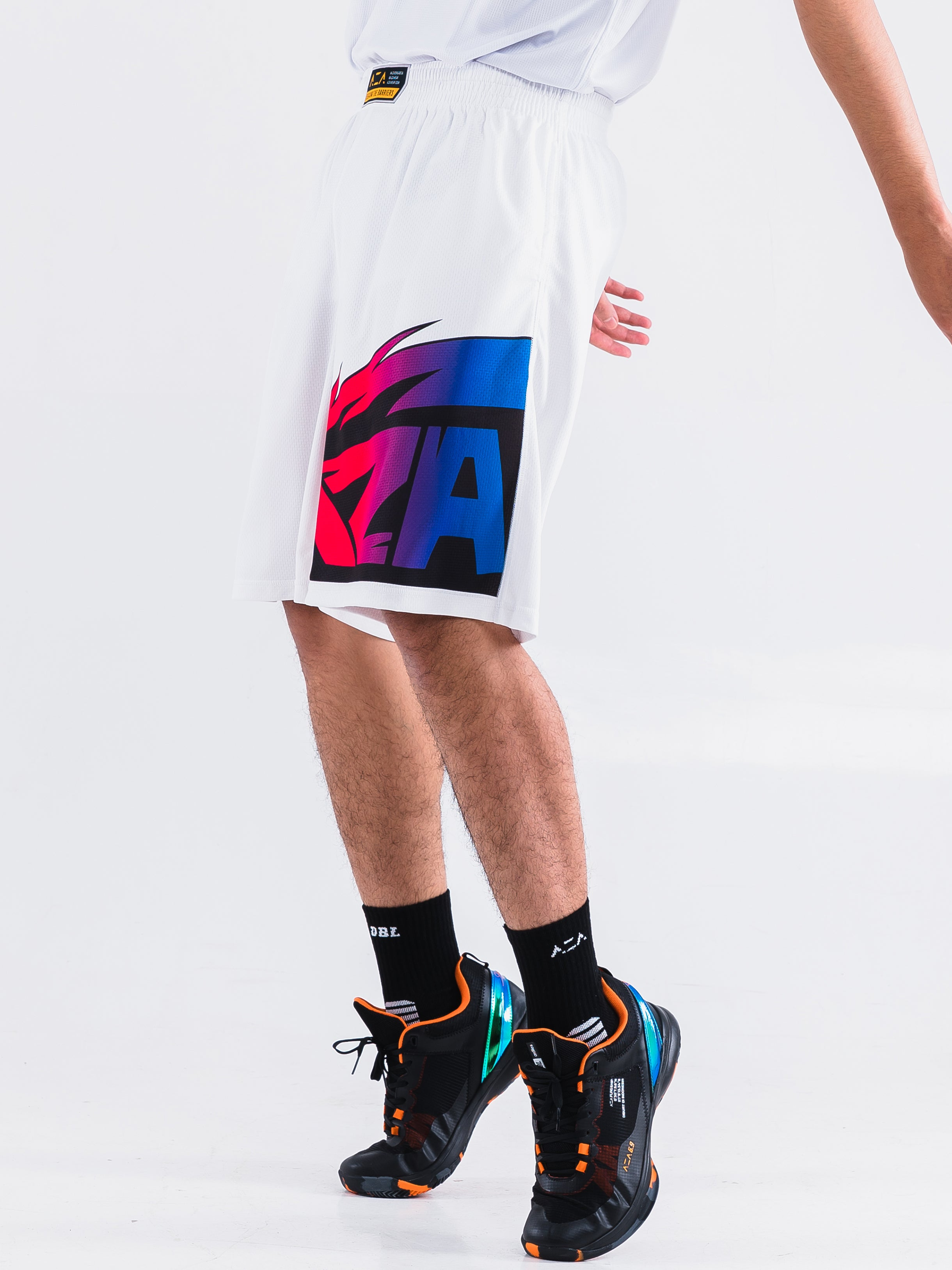 Aza Manga Strike Short - White/Purple