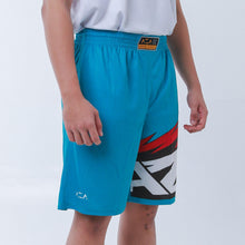 Load image into Gallery viewer, AZA Manga Strike Short - Turquoise/Red