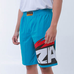 AZA Manga Strike Short - Turquoise/Red
