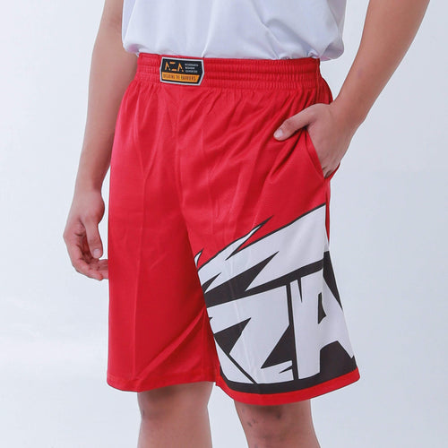 AZA Manga Strike Short - Red/White