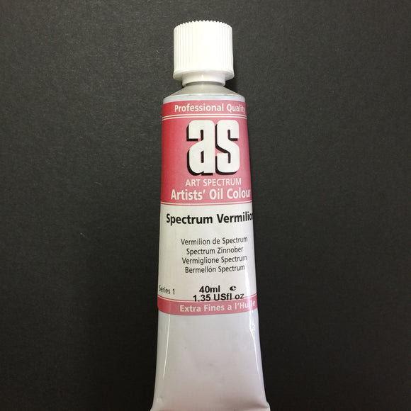 Art Spectrum Artist Oil Spectrum Vermilion 40ml tube