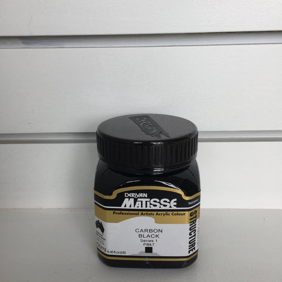 Matisse Structure Carbon Black - Series 1 - 250ml tub