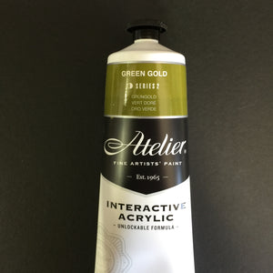Atelier Interactive Artist Acrylic - Green Gold - 80ml tube