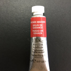 Winsor & Newton Professional Watercolour Brown Madder -Series 1 - 5ml tube