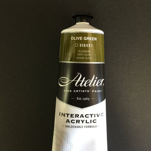 Atelier Interactive Artist Acrylic - Olive Green - 80ml tube