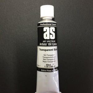 Art Spectrum Artist Oil Transparent Black 40ml tube