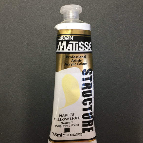 Matisse Structure Naples Yellow Light 75ml tube