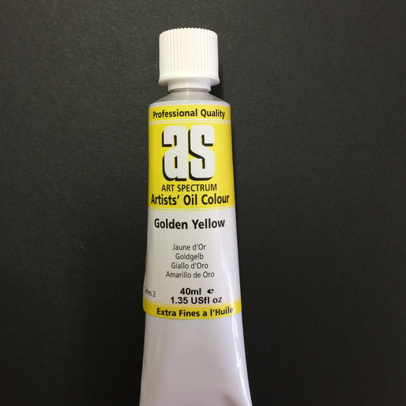 Art Spectrum Artist Oil Golden Yellow 40ml tube