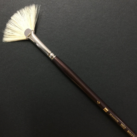 1180 Hog Taklon Fan Brush - #4