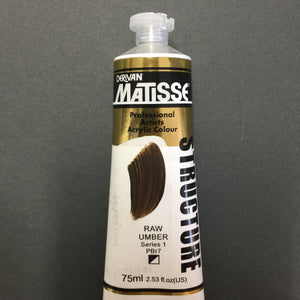 Matisse Structure Raw Umber 75ml tube