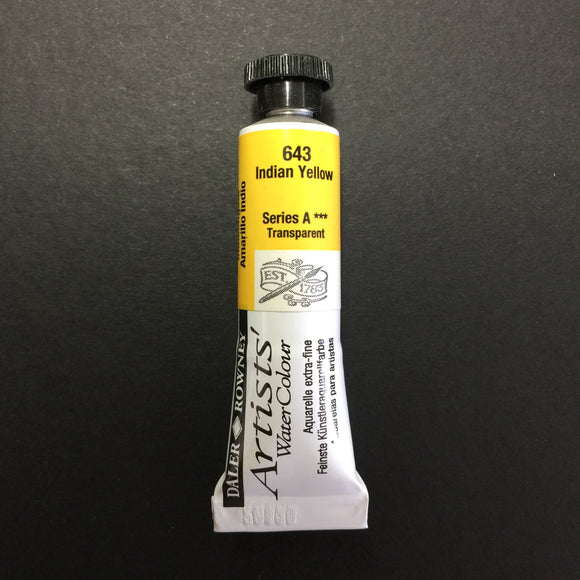 Daler-Rowney Artist Watercolour - Indian Yellow 643 - 5ml tube