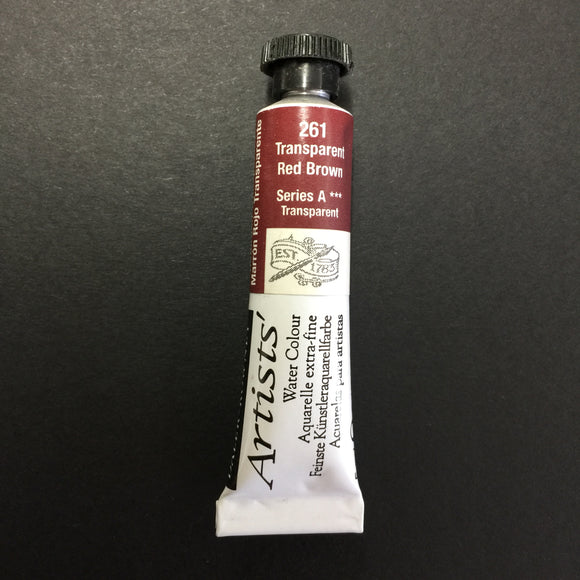 Daler-Rowney Artist Watercolour - Transparent Red Brown 261  - 5ml tube