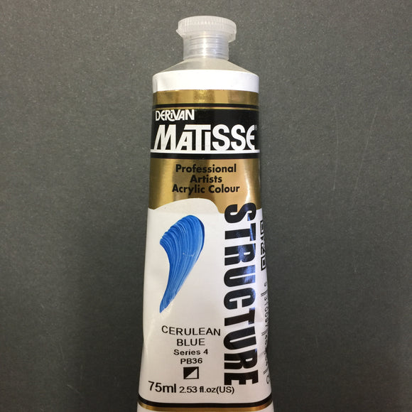 Matisse Structure Cerulean Blue 75ml tube