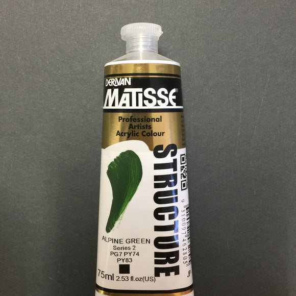 Matisse Structure Alpine Green 75ml tube