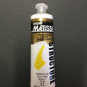 Matisse Structure Aureolin Deep 75ml tube