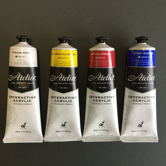 Base Palette set of 4 Atelier Artist Acrylic -FREE FREIGHT