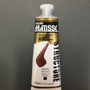 Matisse Structure Mars Violet 75ml tube