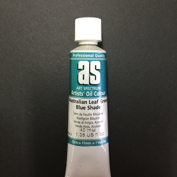 Art Spectrum Artist Oil Australian Leaf Green Blue 40ml tube
