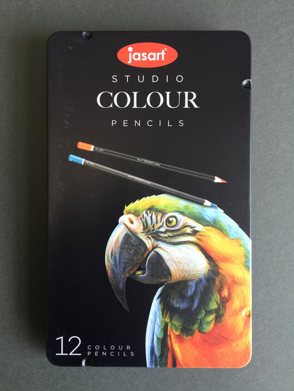 Jasart: Studio Colour Pencils tin of 12