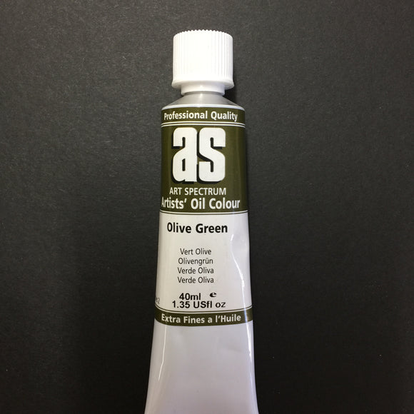 Art Spectrum Artist Oil Olive Green 40ml tube