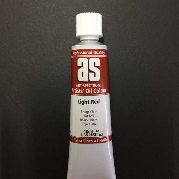 Art Spectrum Artist Oil Light Red 40ml tube