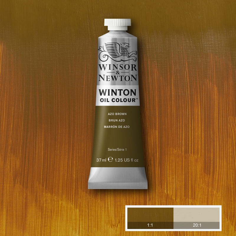 Winton Oil Colour Azo Brown - 37ml tube
