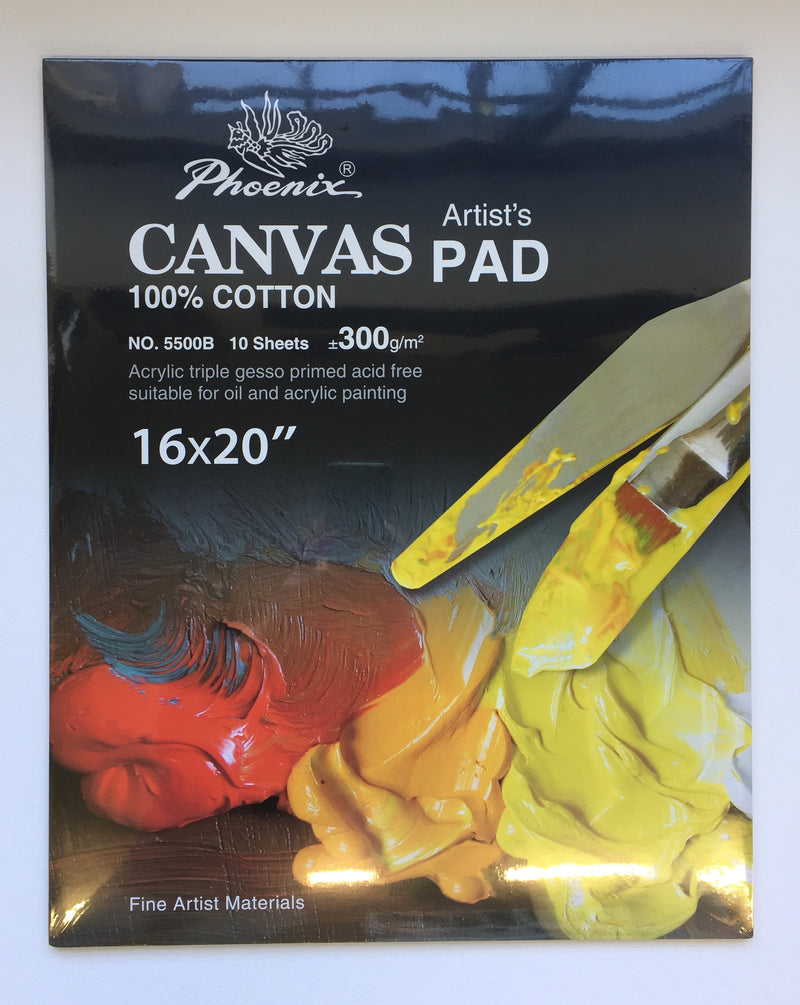 Phoenix Canvas Grain Pad 16x20 inch - 300gsm (10 sheets)