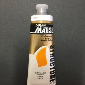 Matisse Structure Iso Yellow 75ml tube