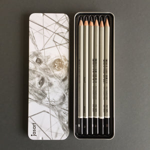 Jasart: Graphite Sketch Pencils tin of 6