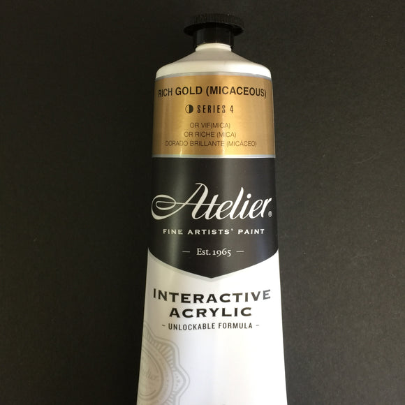 Atelier Interactive Artist Acrylic - Rich Gold - 80ml tube