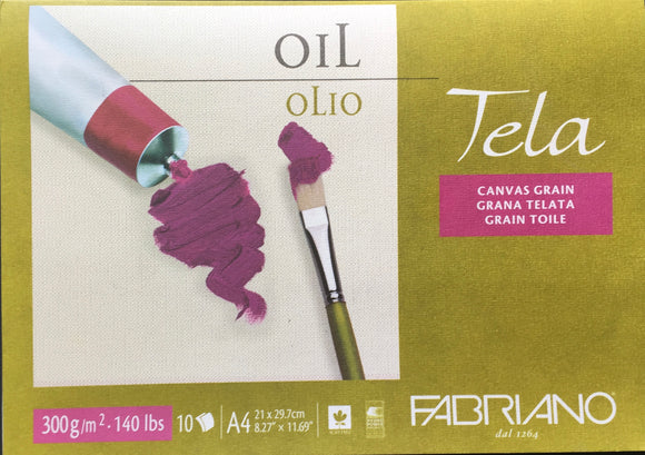 Fabriano Tela Oil canvas grain pad A4