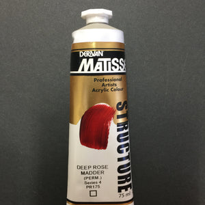 Matisse Structure Deep Rose Madder (Perm) 75ml tube