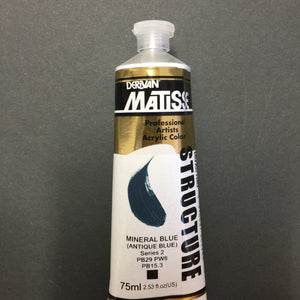 Matisse Structure Mineral Blue (Antique Blue) 75ml tube