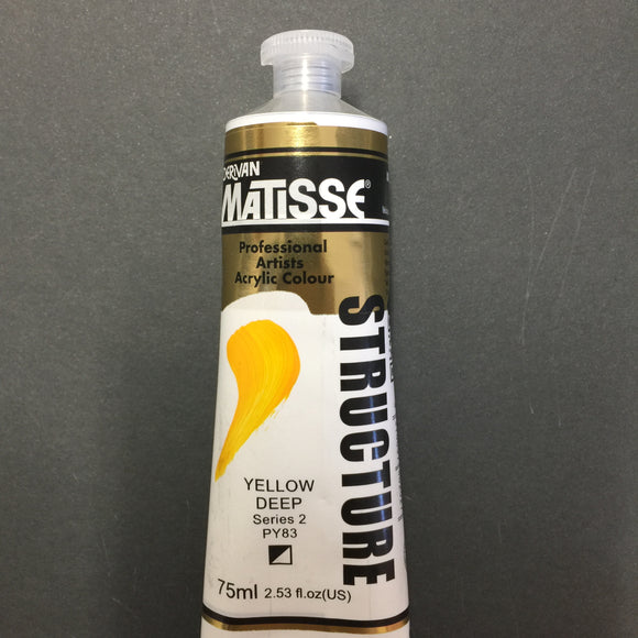 Matisse Structure Yellow Deep 75ml tube