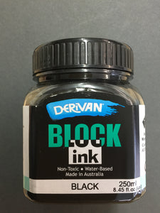 Derivan Block Printing Ink - Black 250ml
