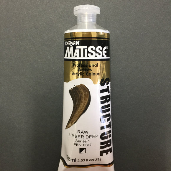 Matisse Structure Raw Umber Deep 75ml tube