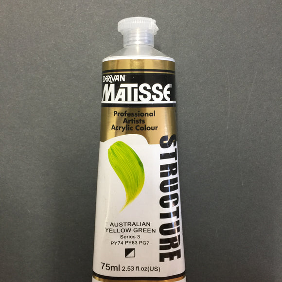 Matisse Structure Australian Yellow Green 75ml tube