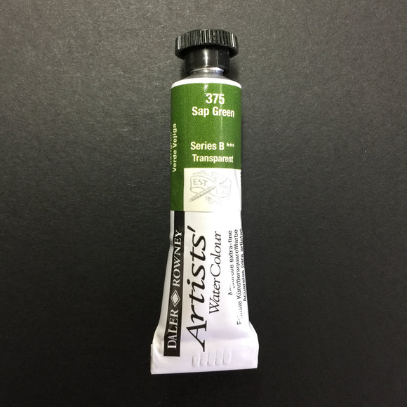 Daler-Rowney Artist Watercolour - Sap Green 375 - 5ml tube