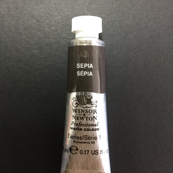 Winsor & Newton Professional Watercolour Sepia -Series 1 - 5ml tube