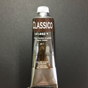 Maimeri Classico Oil Burnt Umber - 60ml tube