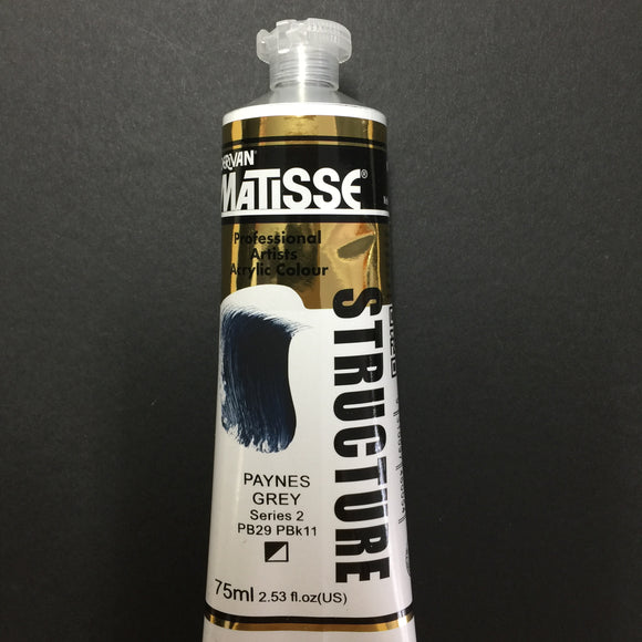 Matisse Structure Paynes Grey 75ml tube
