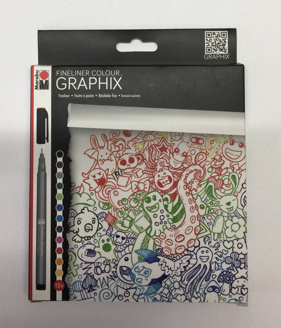 Marabu Fineliners Colour Graphix 12 set
