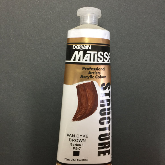 Matisse Structure Van Dyke Brown 75ml tube