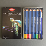 Jasart: Studio Watercolour Pencils tin of 12