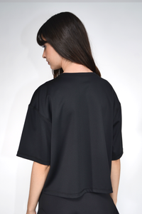 Nylon Cropped T-Shirt